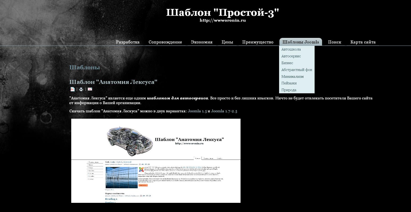 Шаблон «Простой-3»